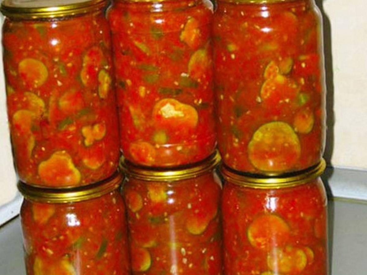Кабачки томатные на зиму: популярные рецепты с фото
