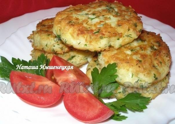 Картофельные биточки с сыром и зеленым луком - кулинарный рецепт. миллион меню