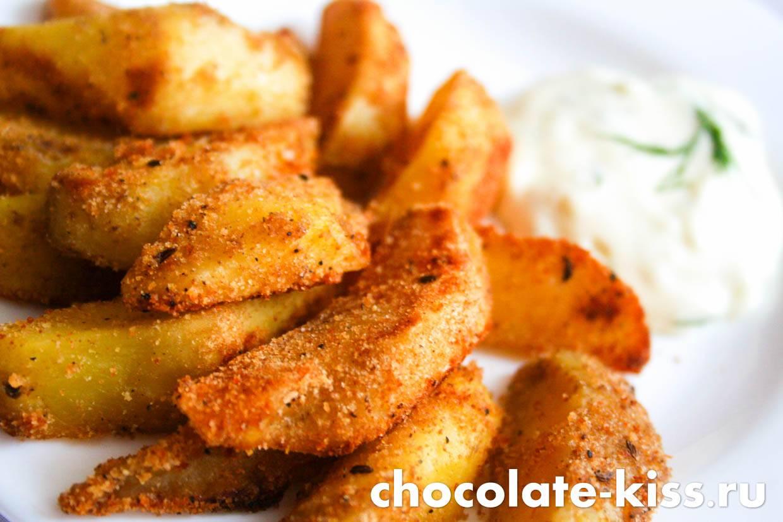 Картофель в хрустящей панировке | готовим просто и вкусно