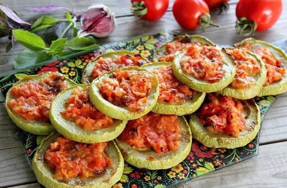 Кабачки на зиму с помидорами и чесноком