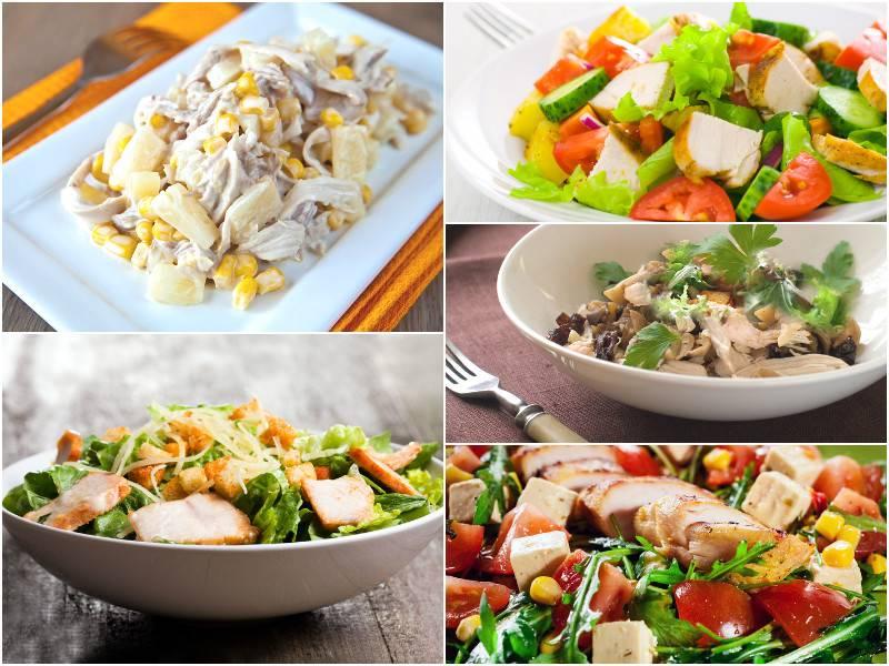 Салат с куриной грудкой - 135 домашних вкусных рецептов приготовления