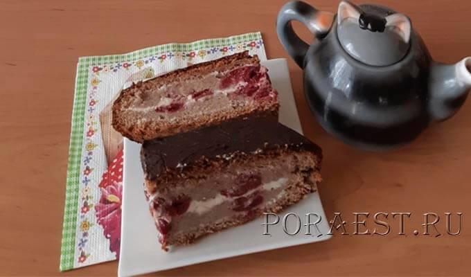 Пирог с творогом и вишней: вкусные рецепты с фото