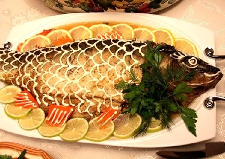 Карп в духовке - рецепты с фото. приготовление запеченной фаршированной рыбы