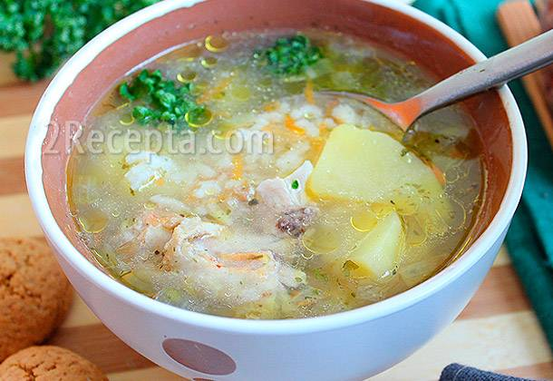 Овощной суп с индейкой