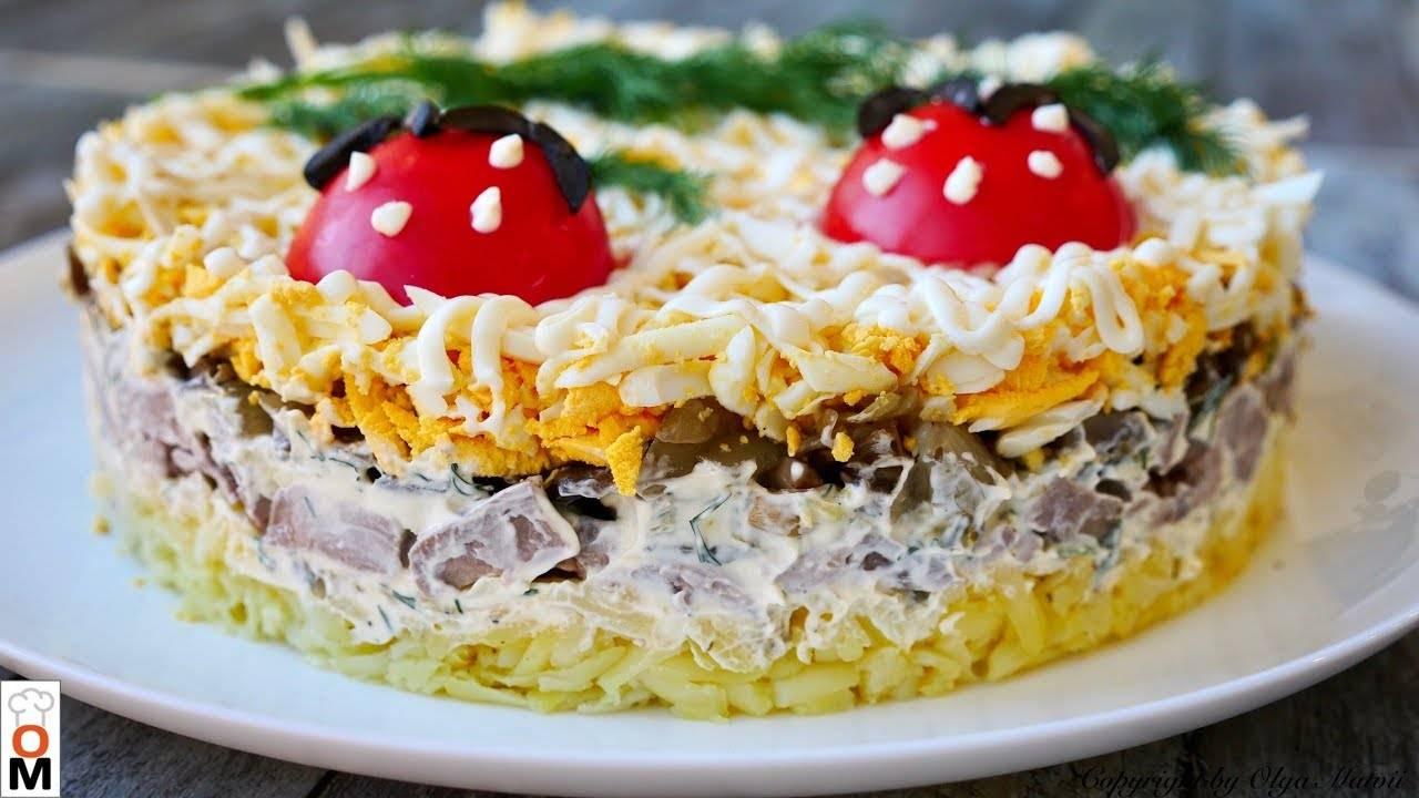 Печеночный салат на Рождество - самый вкусный рецепт