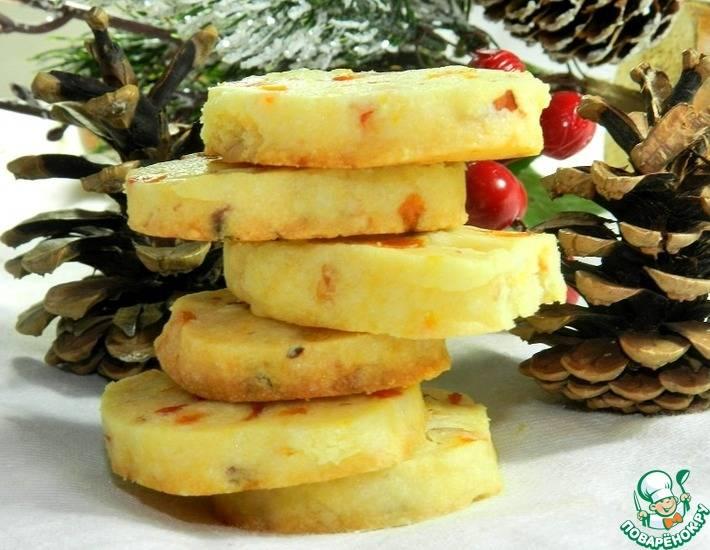 Творожное печенье с курагой - 7 пошаговых фото в рецепте