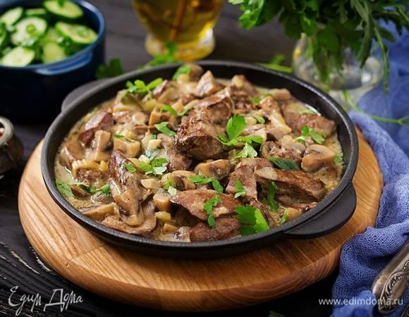 Жарим куриную печень с луком на сковороде: рецепт пошаговый с фото