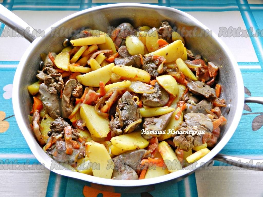 Рецепт приготовления жареной куриной печени с луком
