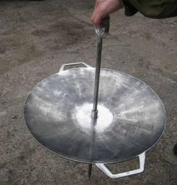 Куриные голени в сковороде из дисковой бороны