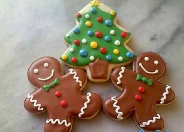 Новогоднее печенье, идеи для украшения