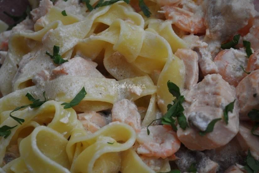 Паста с кальмарами — 8 рецептов приготовления