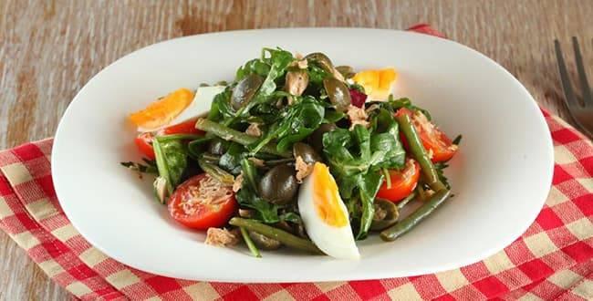 Салат нисуаз — классический рецепт пошагово с фото. как приготовить французский салат нисуаз с тунцом, с лососем?