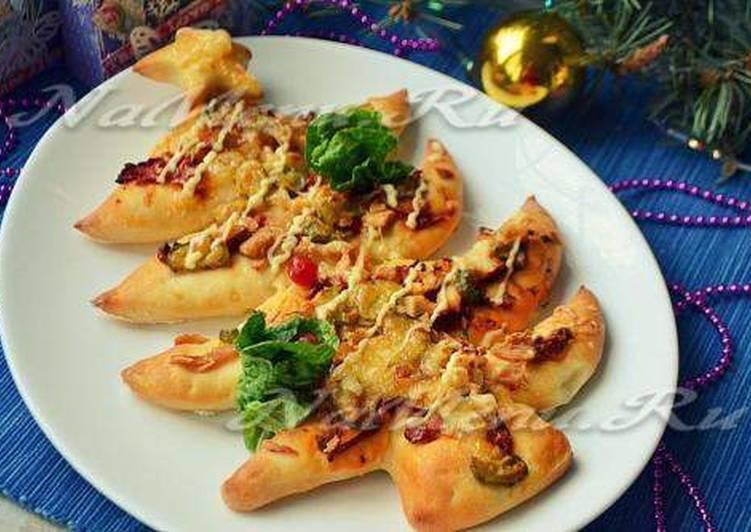 """Новогодняя пицца """"елочка"""""""