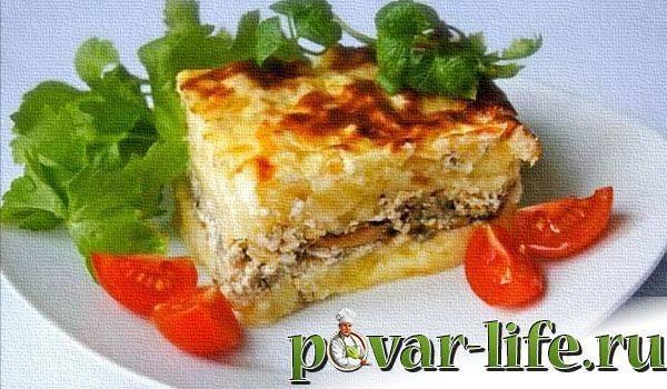 Язык, запеченный с картофельным пюре