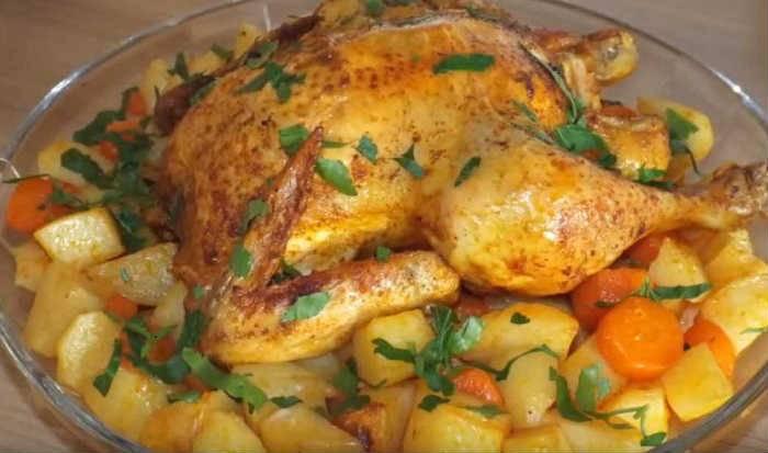 Курица в духовке целиком с хрустящей корочкой — пошаговый рецепт с фото и видео. как запечь целую курицу в духовке с хрустящей корочкой?