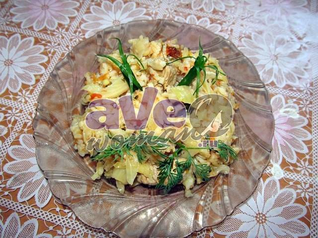Как быстро и вкусно потушить капусту с рисом