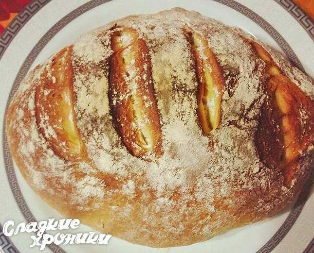Пшенично кукурузный хлеб в духовке