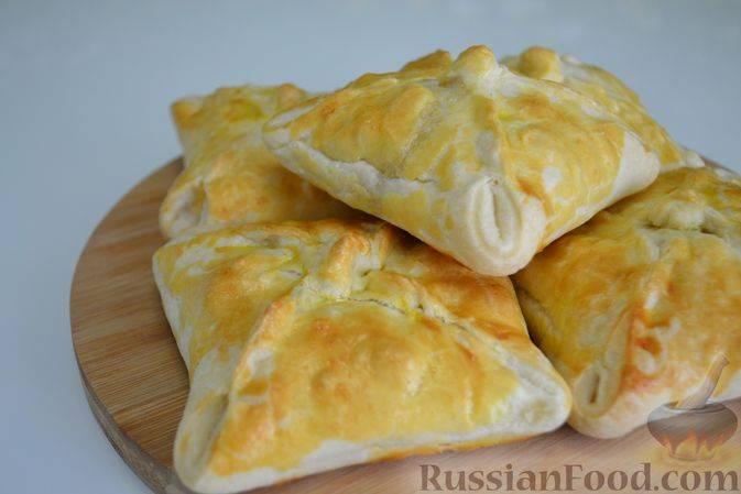Пошаговый рецепт приготовления слоек с сыром из готового теста