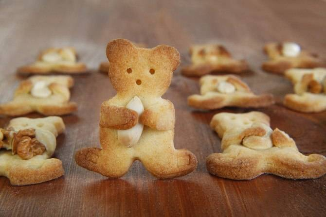 Печенье мишки рецепт с фото