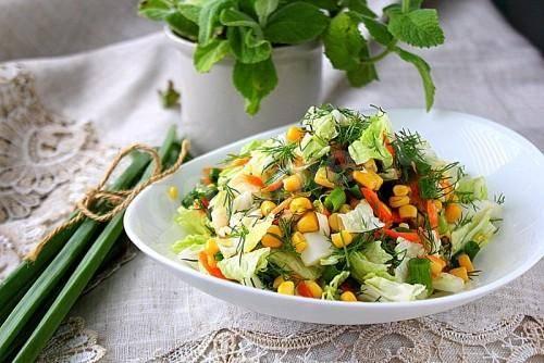 Салат из свежей пекинской капусты - 7 пошаговых фото в рецепте