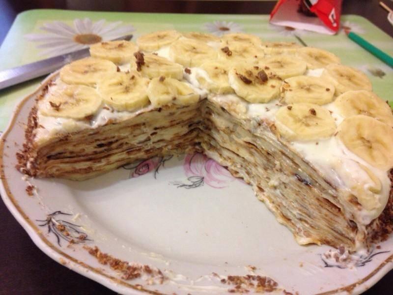 Сметанный крем с арахисом и бананом