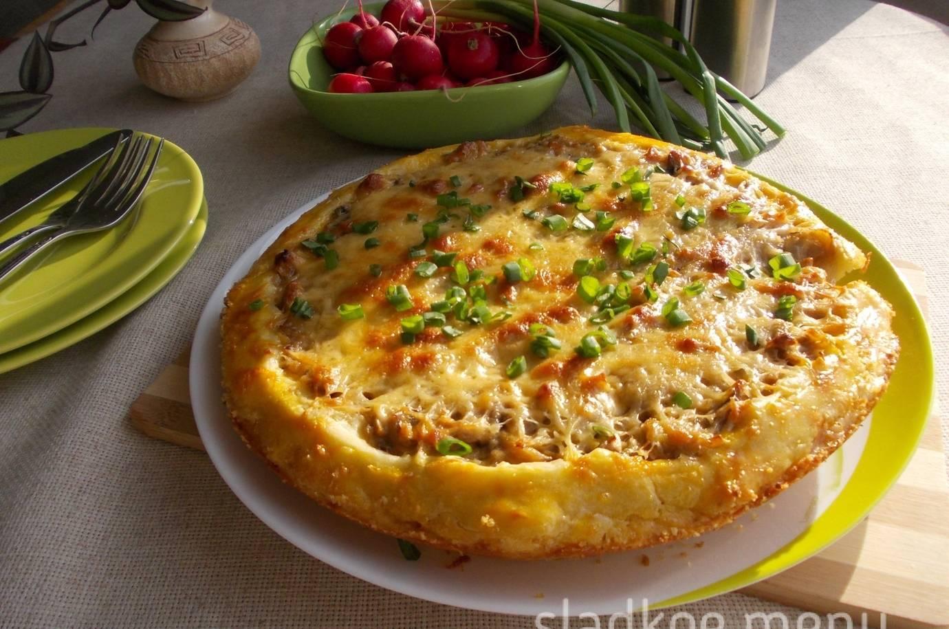 Пошаговый рецепт приготовления пирога с картошкой и грибами в духовке