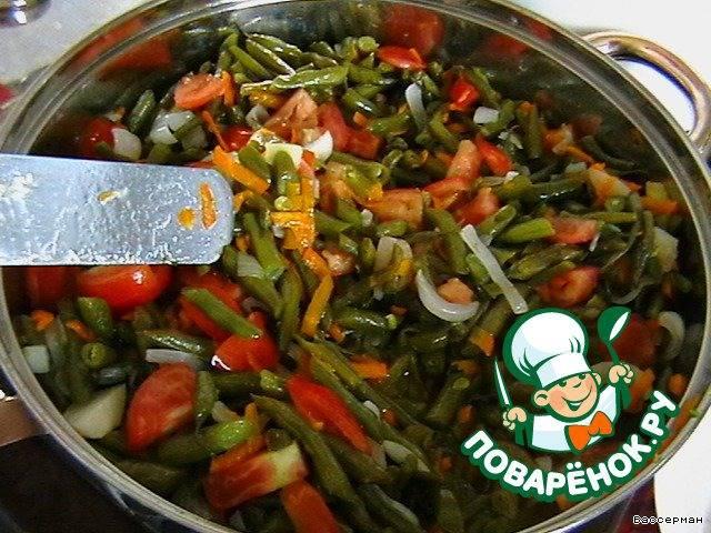 Овощи тушеные с фасолью