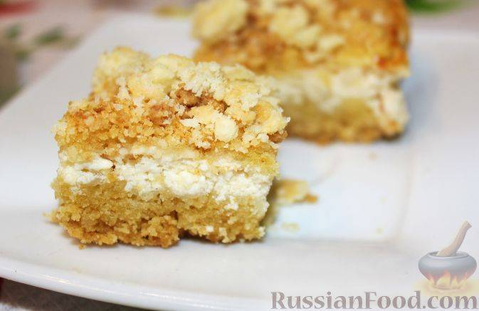 Пирог крошка с творогом рецепт с фото