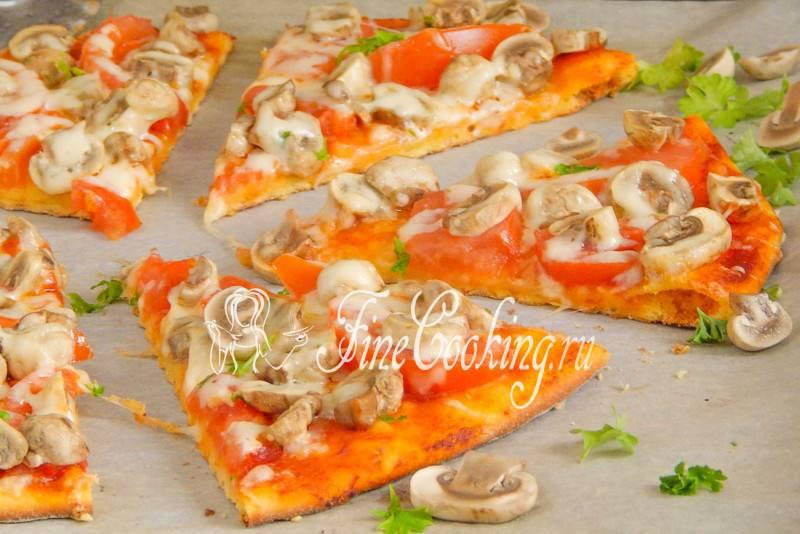 Пицца с шампиньонами - рецепты джуренко