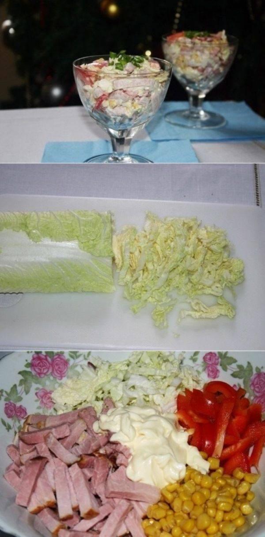 Быстрый салат из пекинской капусты и болгарского перца