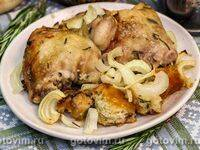 Запеченные куриные бедра в луковом маринаде - рецепт с фотографиями - patee. рецепты