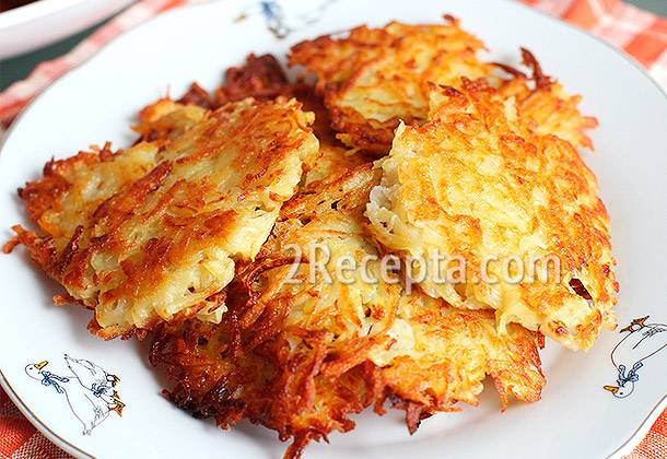 Картофельные оладьи: рецепт приготовления