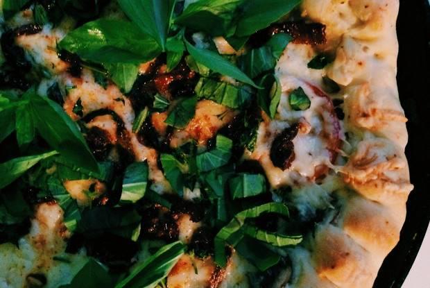 Пицца на баклажанах