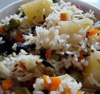 Рагу овощное с рисом