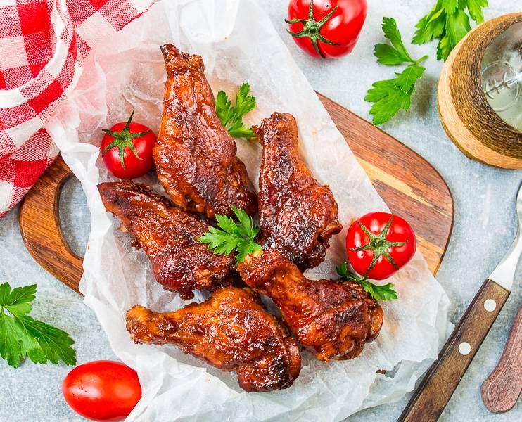 """Рецепт крылышек """"баффало"""" в духовке - 10 пошаговых фото в рецепте"""