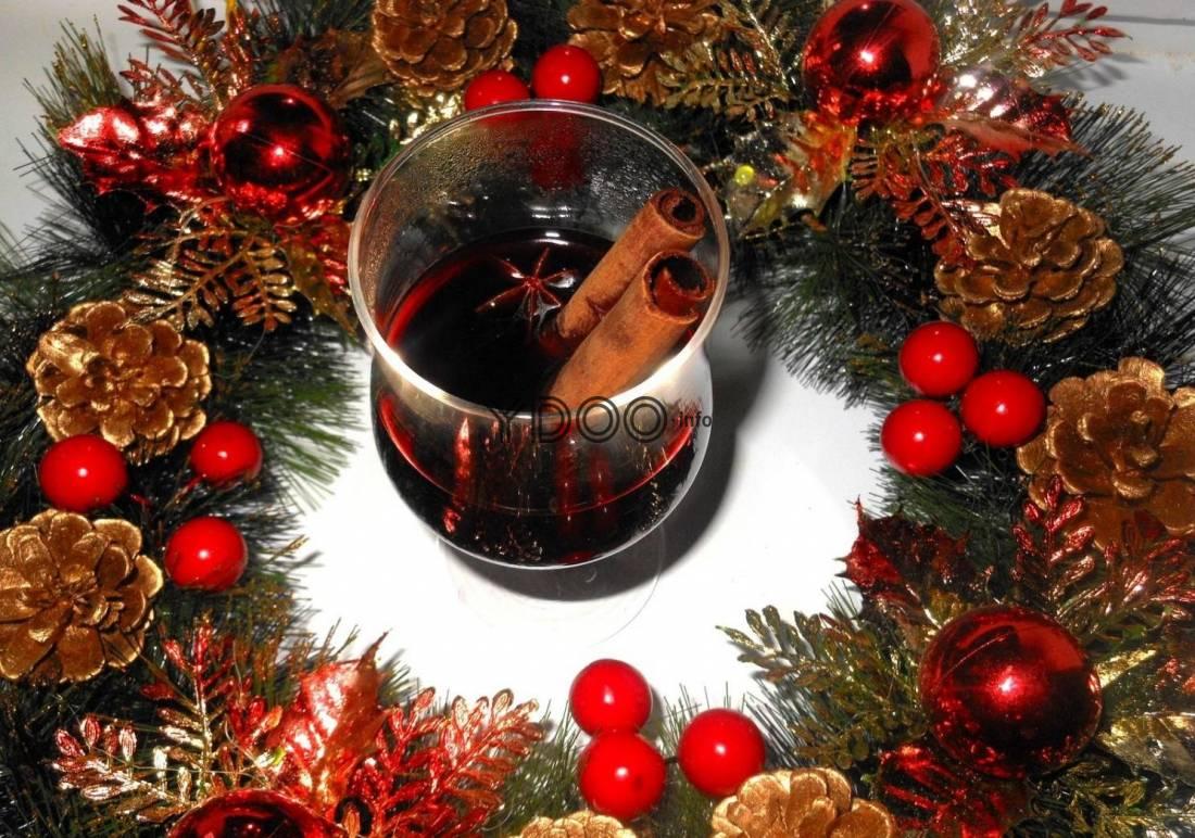 Рождественский глинтвейн с мёдом - ароматный и вкусный
