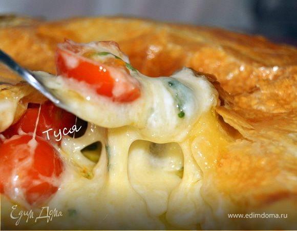 Пирог с луком и помидорами рецепт с фото