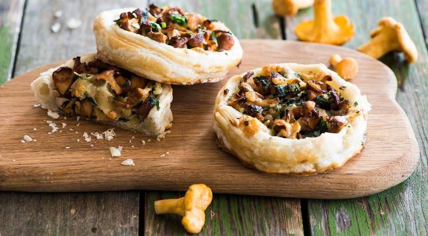 Тарталетки с грибами: пошаговый рецепт с фото