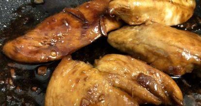 Курица в медово-соевом маринаде с луком