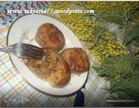 Картофельные шарики с грудинкой
