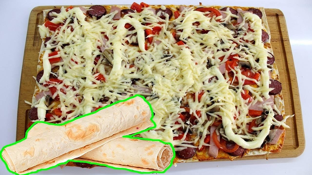 Постная пицца с баклажаном и грибами