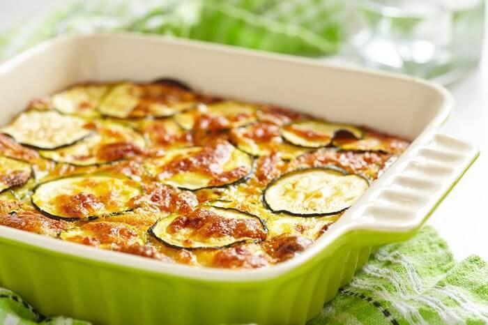 Рецепт кабачков с фаршем и сыром в духовке