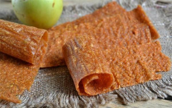 Пастила из яблок без варки с сахаром и льняным семенем