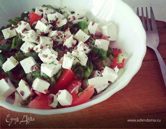Овощной салат с брынзой - пошаговый рецепт с фото |  салаты