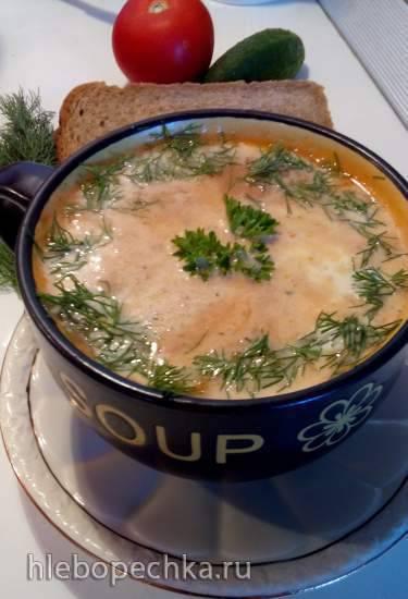 Суп-пюре с тыквой и овсяными хлопьями