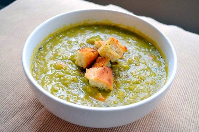 Домашний гороховый суп-пюре