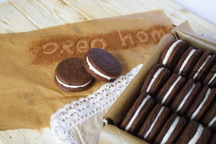Как сделать печенье орео (oreo) в домашних условиях по пошаговому рецепту с фото
