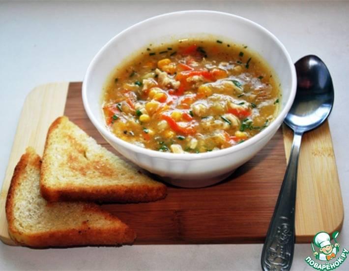 Адыгейский острый молочно-кукурузный суп