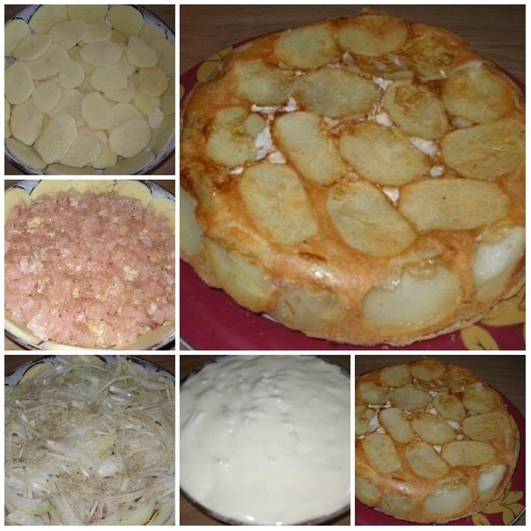 Закрытый пирог - 131 домашний вкусный рецепт приготовления