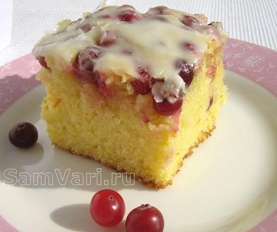 Бисквитный пирог с творожным кремом (пошаговый рецепт с фото)
